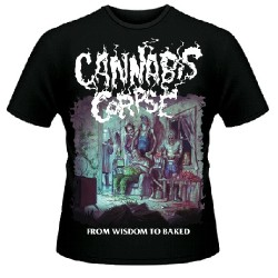 Cannabis Corpse - From Wisdom to Baked (Black) - T shirt (Men)
