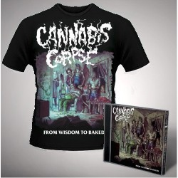 Cannabis Corpse - From Wisdom to Baked (Black) - CD + T Shirt bundle