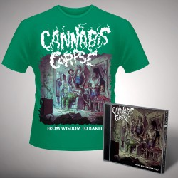 Cannabis Corpse - From Wisdom to Baked (Green) - CD + T Shirt bundle (Men)