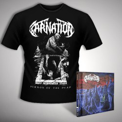 Carnation - Chapel of Abhorrence + Sermon of the Dead - CD + T Shirt bundle (Men)