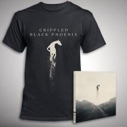 Crippled Black Phoenix - Great Escape - CD DIGIPAK + T Shirt bundle (Men)