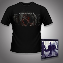 Emptiness - Not for Music + Meat Heart - CD + T Shirt bundle (Men)