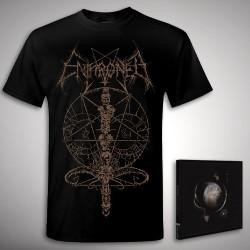 Enthroned - Cold Black Suns Ink Bundle - CD + T Shirt bundle (Men)