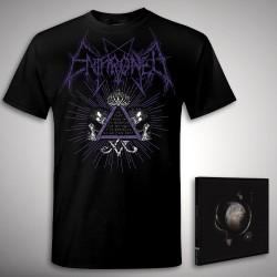 Enthroned - Cold Black Suns Samael Bundle - CD + T Shirt bundle (Men)