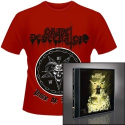 Grave Desecrator - Dust to Lust + Praise the Darkness - CD + T Shirt bundle (Men)