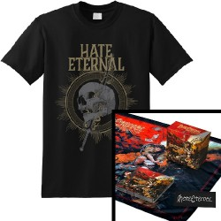 Hate Eternal - Infernus + Sword & Skull - CD BOX + T Shirt (Men)