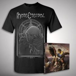 Hate Eternal - Upon Desolate Sands + Death Calls - CD + T Shirt bundle (Men)