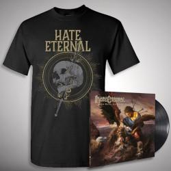 Hate Eternal - Upon Desolate Sands + Sword & Skull - LP Gatefold + T Shirt Bundle (Men)
