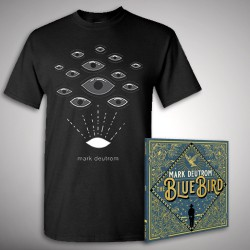 Mark Deutrom - The Blue Bird + Eyes - CD DIGIPAK + T Shirt bundle (Men)