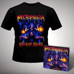 Necrophagia - WhiteWorm Cathedral - CD DIGIPAK + T Shirt bundle