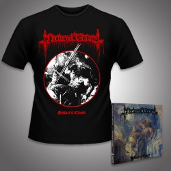 Nocturnal Graves - Satan's Cross - CD DIGIPAK + T Shirt bundle (Men)