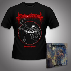 Nocturnal Graves - Satan's Cross + Legions of Satan - CD DIGIPAK + T Shirt bundle (Men)