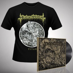 Nocturnal Graves - Titan - LP Gatefold + T Shirt Bundle (Men)