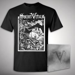 Saint Vitus - Saint Vitus + Last Breath - CD DIGIPAK + T Shirt bundle (Men)