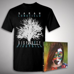 Sarah Longfield - Disparity + Embracing Solace - CD DIGIPAK + T Shirt bundle (Men)