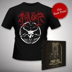 Tsjuder - Throne of the Goat + Chainsaw Black Metal - CD DIGIPAK + T Shirt bundle (Men)