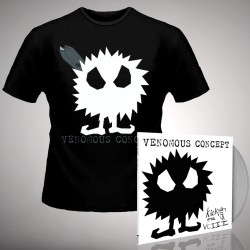 Venomous Concept - Kick Me Silly; VC3 - LP Gatefold Colored + Tshirt Bundle