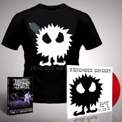 Venomous Concept - Kick Me Silly; VC3 (Red Vinyl) + For the Ugly - LP Gatefold + DVD + T Shirt Bundle (Men)