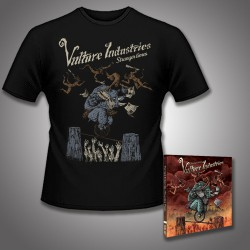 Vulture Industries - Stranger Times - CD DIGIPAK + T Shirt bundle (Men)