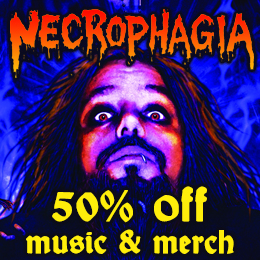 50% off on Necrophagia music & merch