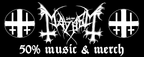 50% off on Mayhem music & merch!