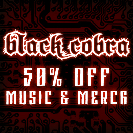 50% off on Black Cobra music & merch!