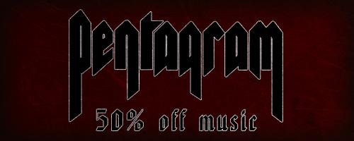 50% off on Pentagram music!