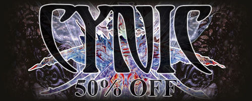 50% off on Cynic music!