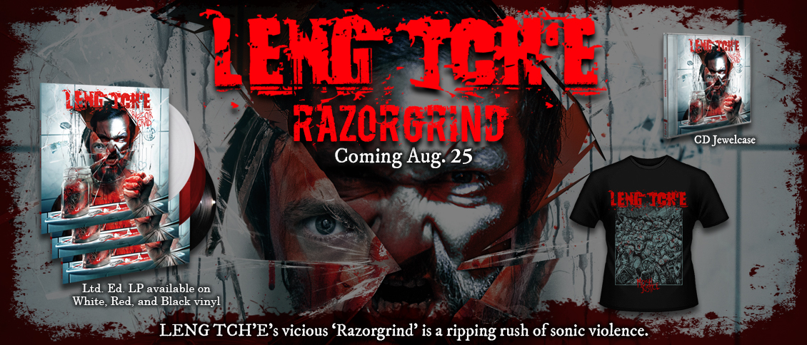 LENG TCH'E unleash the vicious 'Razorgrind', their latest grinding metal assault. Named after their self-styled take on grindcore, the album deploys all the classic genre hallmarks; light-speed drumming, rabid vocal barking, and a swarming guitar attack packed into ferocious bursts of aggression. This is easily some of the finest work by veteran Belgian grinders, and nothing short of a ripping rush of sonic violence.